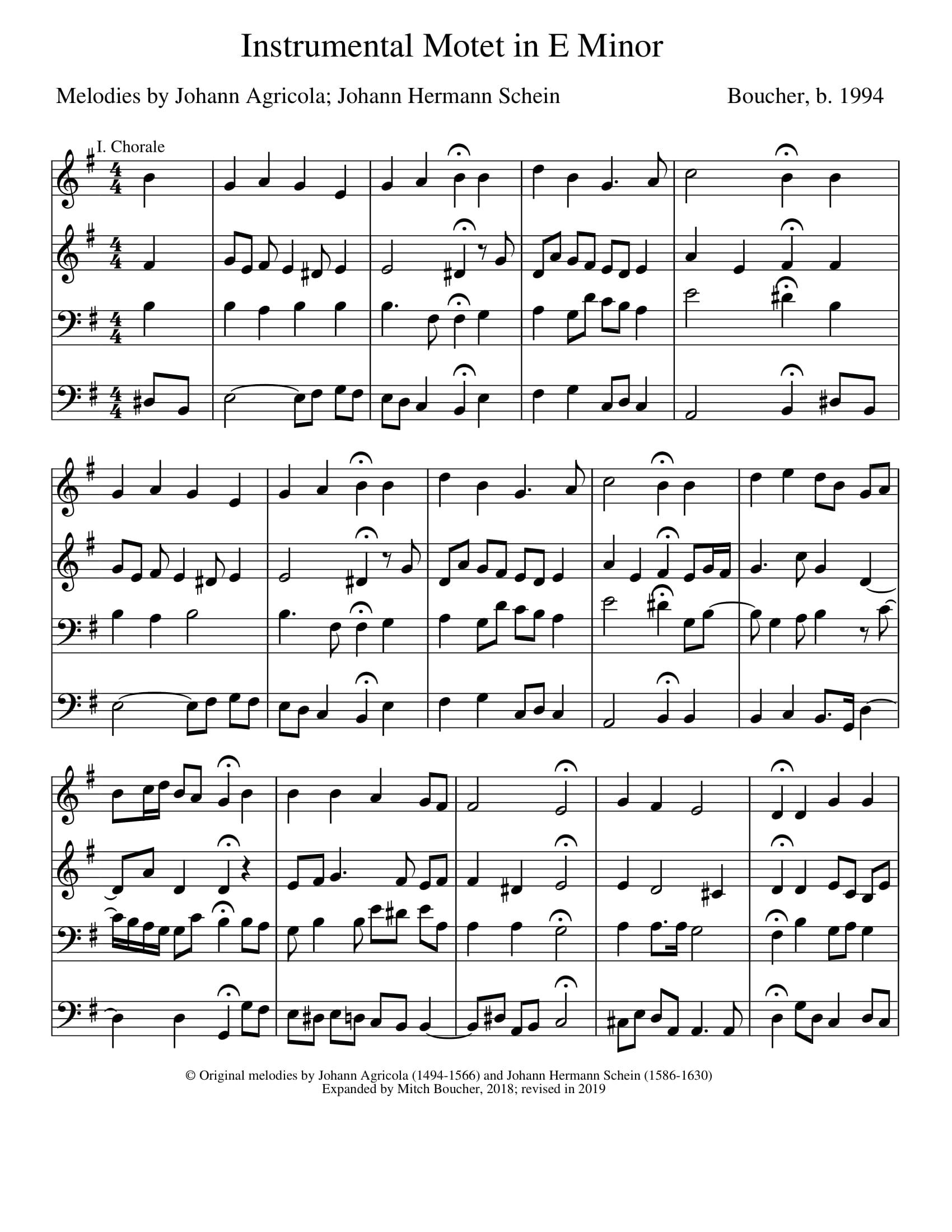 Instrumental Motet in E minor