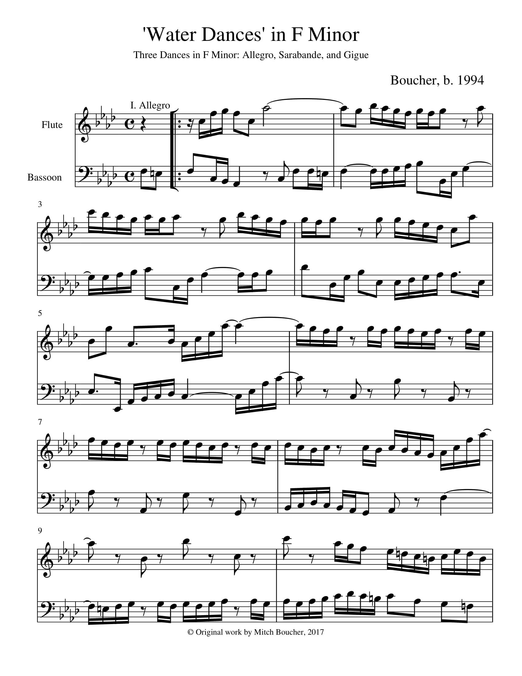 'Water Dances' in F minor