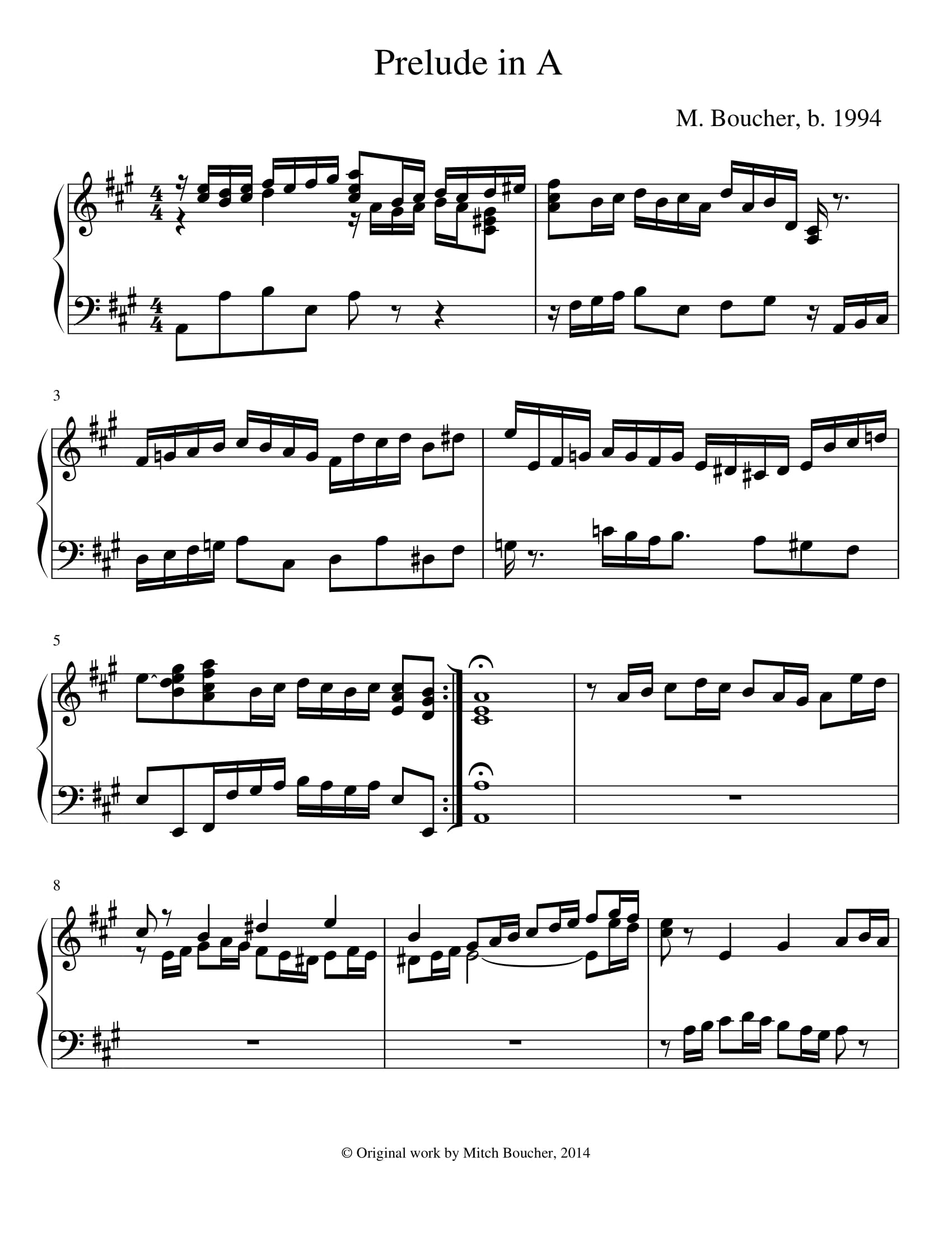 Prelude in A