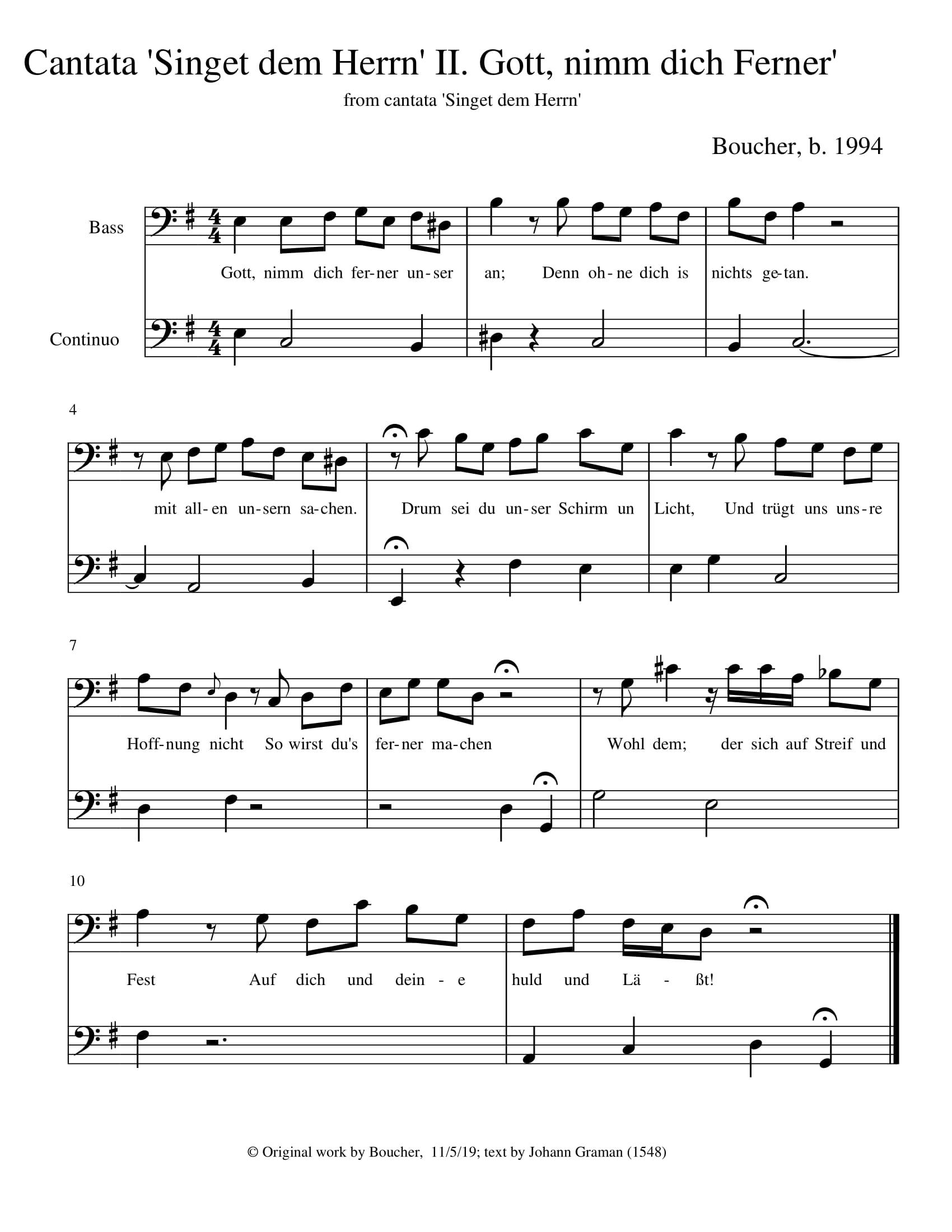Singet dem Herrn: 2. Recitative