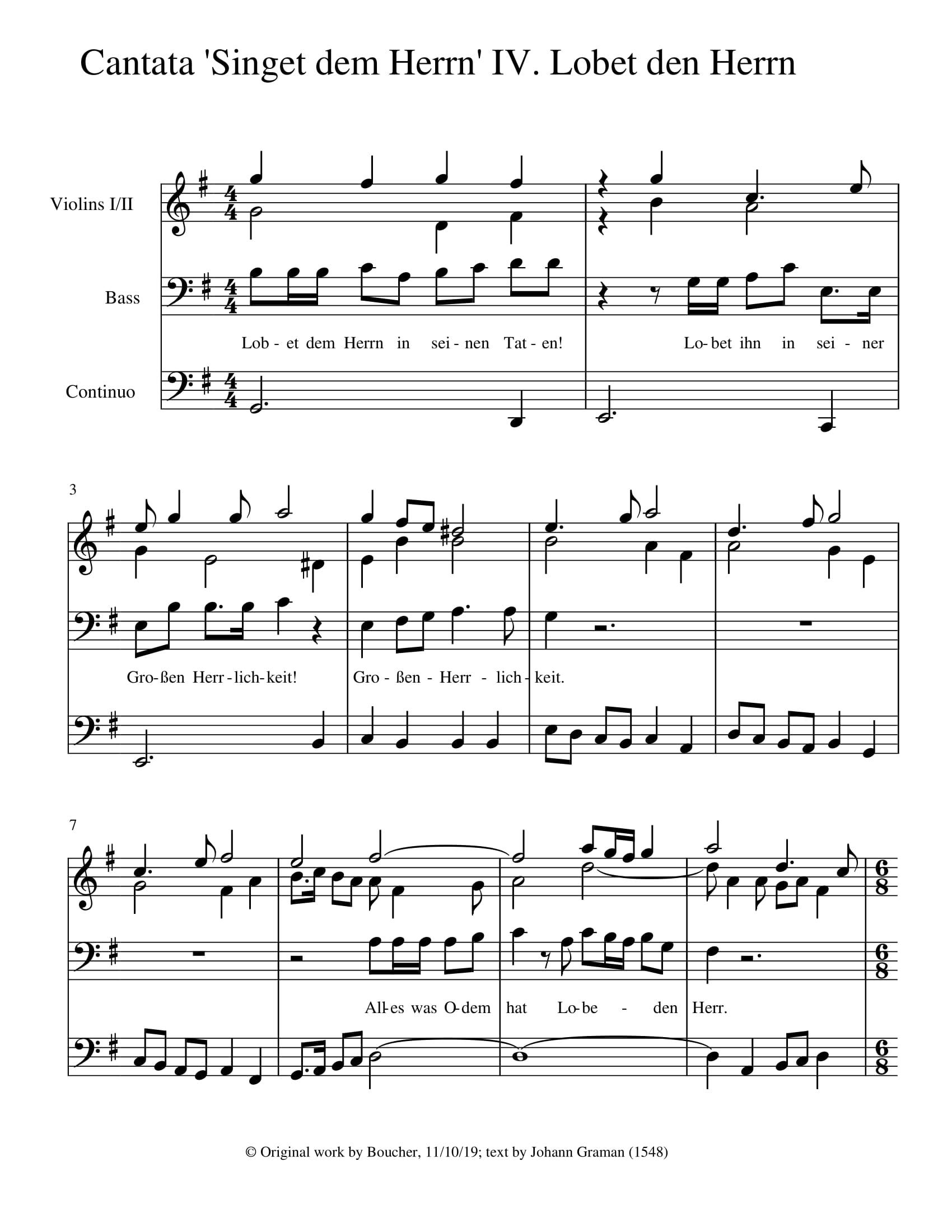 Singet dem Herrn: 4. Recitative